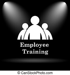 Employee training icon Internet button on black background...