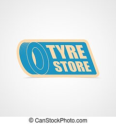 Tyres store logo for business. Vector