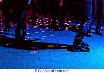 defocused dance floor - defocused background of a dance...