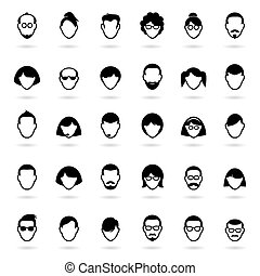 Set of people icons Vector Avatar Illustration - Collection...