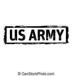 Black grunge stamp US ARMY - Vector Icon and Graphic Element