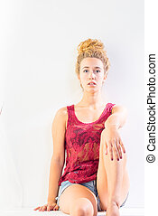 Multiracial Young Female Indie Fashion - Multiracial young...