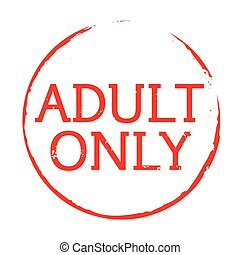 Red stamp and text adult only - Vector Icon and Graphic...