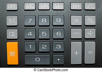 Calculator buttons - Keypad of a calculator close up