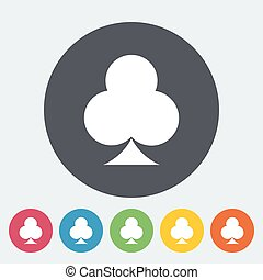 Phillips suit Single flat icon on the circle button Vector...