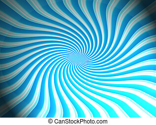 blue swirl - blue and white simetrical swirl abstract...