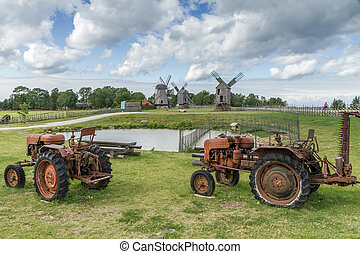 tractors - Old rural mill restored and resurrected to new...