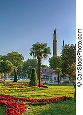 Sultan Ahmed park, Istanbul - Sultan Ahmed park is located...