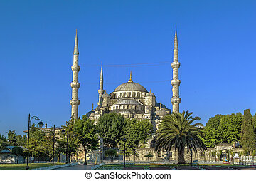 view of Sultan Ahmed Mosque, Istanbul - The Sultan Ahmed...