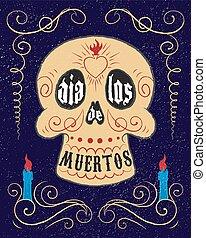 Dia de los muertos skull. - Hand drawn mexican sugar skull....