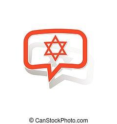 David Star message sticker, orange
