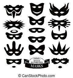 Set of different masks vector illustration