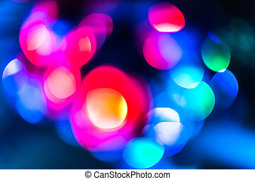 Bokeh lights - Background with bokeh defocused lights in...