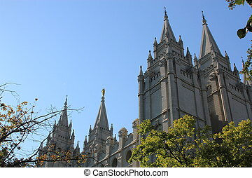 Salt Lake City, Utah - View of the stunning architecture in...