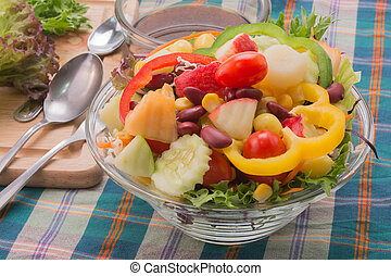 Vegetable Salad - Vegetable salad with oriental salad...