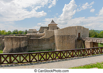 castle - The ruins of the medieval castle in the town of...