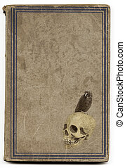 Old witchcraft book - Very old brown witchcraft book with...