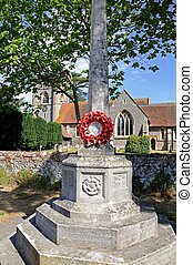 Hambledon Cenotaph - Church of St Mary the Virgin with a...