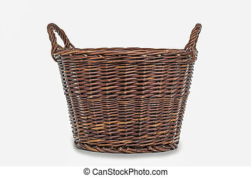 Basket - wicker basket isolated on a white background