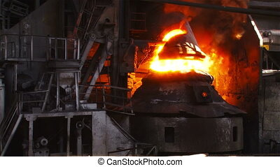 Fire during the purge of iron with oxygen - Hot steel...