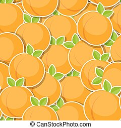 Seamless Pattern Background from Peach Vector Illustration....
