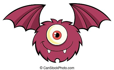 One Eyed Monster Cartoon Character