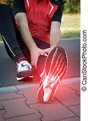 Runner foot