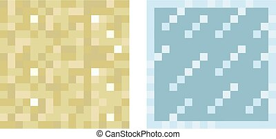 Texture for platformers pixel art vector - sand and glass...