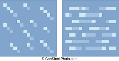 Texture for platformers pixel art vector - water and ice -...