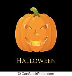 Happy Halloween pumkin. Vector background. - 3D Happy...