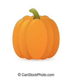 Pumkin - 3D glossy cartoon pumkin Vector EPS10 illustration...