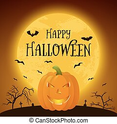 Happy Halloween pumkin Vector background - Happy Halloween...