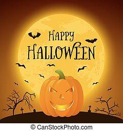 Happy Halloween pumkin. Vector background. - Happy Halloween...