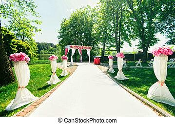 way to beautiful wedding ceremony