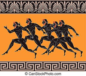 Ancient Greek figures - Sportsmen runners