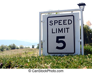 Speed Limit 5 Sign - picture of a Speed Limit 5 Sign
