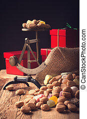 Jute bag with pepernoten - Jute bag with typical dutch...