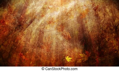 Autumn background - Colorful autumn background loop