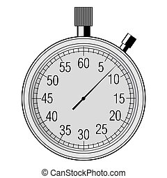 stopwatch, tool of measurement - vector illustration of...
