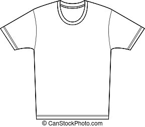 Tee Shirt - Tee shirt isolated on a white background.