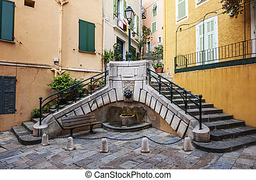 Place du Conseil in Villefranche-sur-Mer - Small square with...