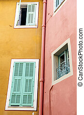 Windows in Villefranche-sur-Mer - Windows with shutters on...