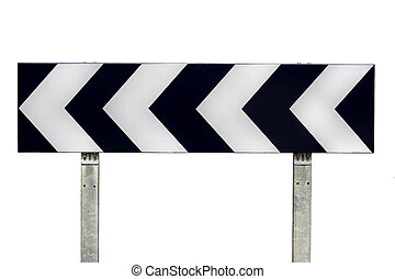 Direction traffic sign - Isolated direction traffic sign...