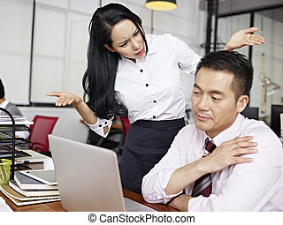 baffled asian businesswoman - asian businesswoman puzzled...