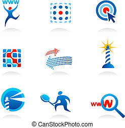 collection of seo icons and logos
