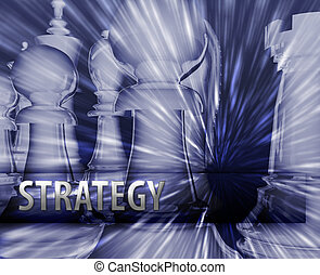 Business strategy illustration - Abstract business strategy...