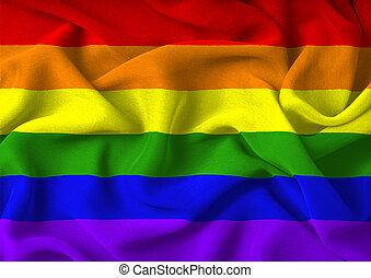 Gay Pride Flag - Very large version of the gay pride flag