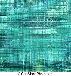 Old ancient texture, may be used as abstract grunge background. With different color patterns: blue; cyan; green