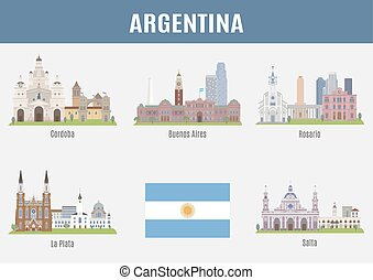 Argentina - Cities in Argentina. Famous places of big cities