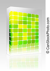Colored mosaic background box package box package - Software...